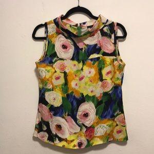 J.Crew Collection Silk Monet Like Flower blouse